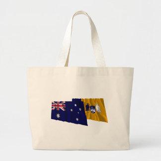 Australia & Capital Territory Waving Flags Canvas Bag