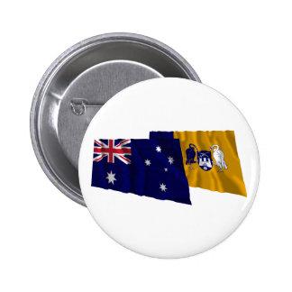 Australia Capital Territory Waving Flags Pinback Buttons