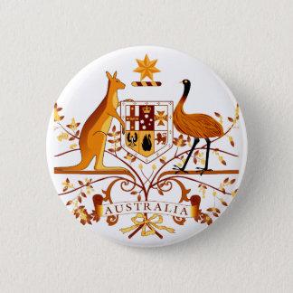 Australia COA Brown 6 Cm Round Badge