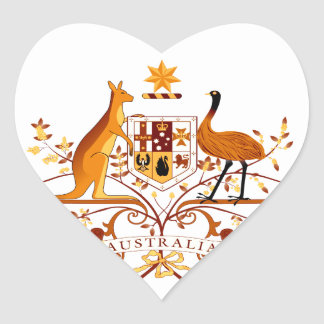 Australia COA Brown Heart Sticker