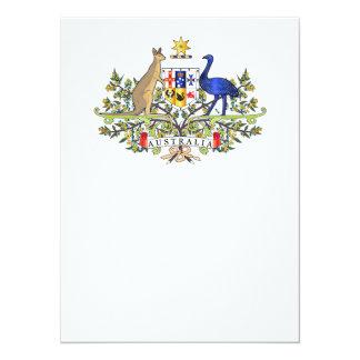 Australia coat of arms 14 cm x 19 cm invitation card