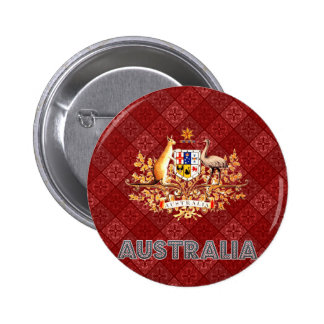 Australia Coat of Arms 6 Cm Round Badge