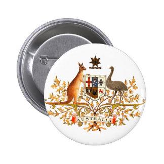 australia coat of arms 6 cm round badge