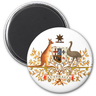 australia coat of arms 6 cm round magnet