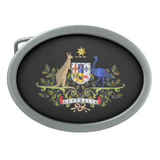 Australia coat of arms belt buckles