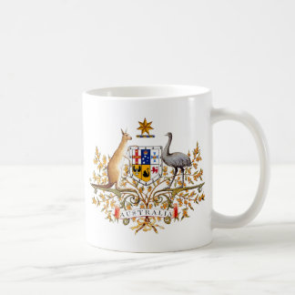 Australia coat of arms coffee mug