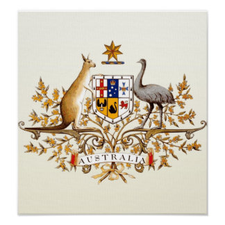 Australia Coat of Arms detail Poster