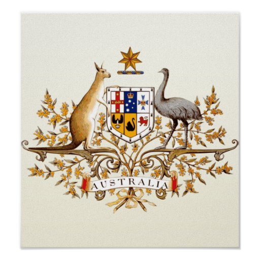 Australia Coat of Arms detail Posters