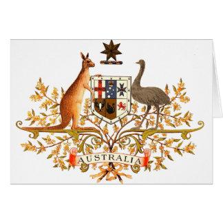 australia coat of arms greeting card