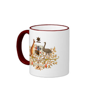 australia coat of arms coffee mug