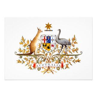 Australia Coat of Arms Personalized Invitation