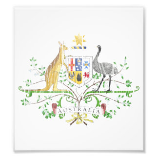 Australia Coat Of Arms Photograph