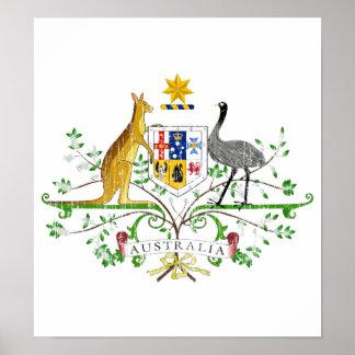Australia Coat Of Arms Poster