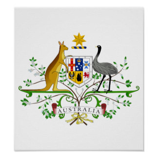 Australia Coat Of Arms Poster