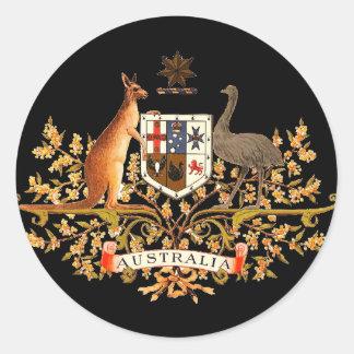 australia coat of arms round stickers