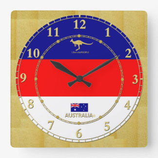 Australia Colour Gold Number Modern Wall Clock