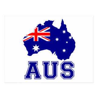 Australia Continent Postcard