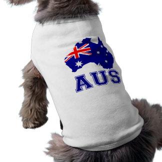 Australia Continent Sleeveless Dog Shirt