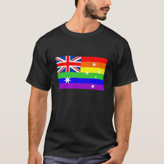 australia country gay proud rainbow flag T-Shirt