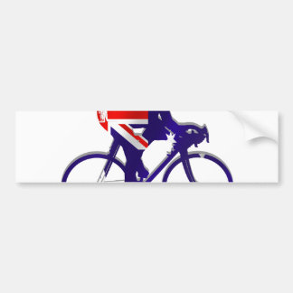 Australia Cycling gifts for Aussie Bicycle fans Bumper Sticker