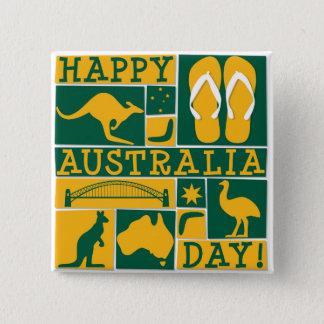Australia Day 15 Cm Square Badge