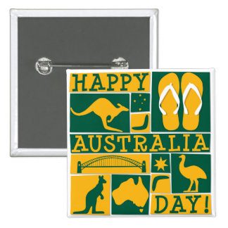 Australia Day 15 Cm Square Badge