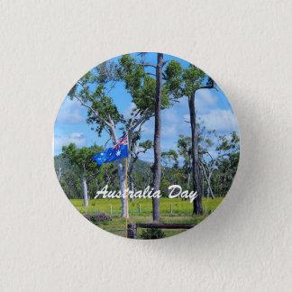 Australia Day badge with Australian flag