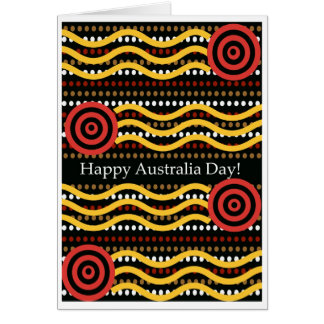 Australia Day Greeting Card, Aboriginal Dot Design Card