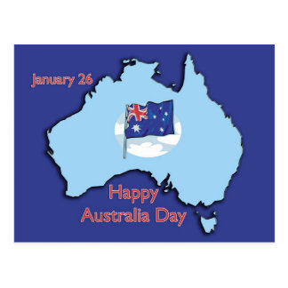 Australia Day January 26 Postcard