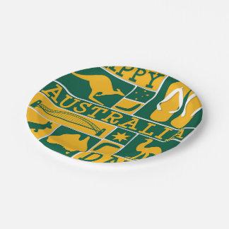 Australia Day Paper Plate