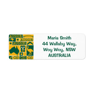 Australia Day Return Address Label
