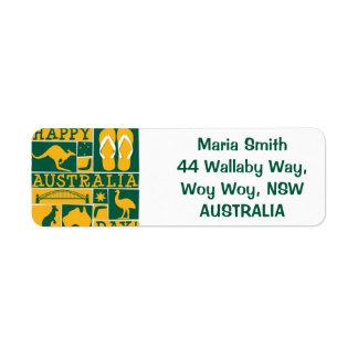 Australia Day Return Address Label