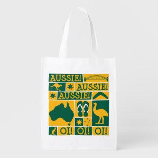 Australia Day Reusable Grocery Bag