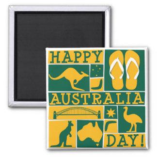 Australia Day Square Magnet