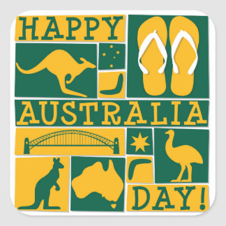 Australia Day Square Sticker