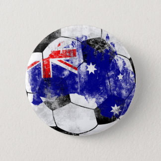 Australia Distressed Soccer 6 Cm Round Badge