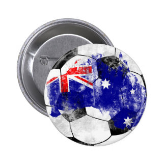 Australia Distressed Soccer 6 Cm Round Badge