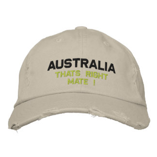 Australia Embroidered Hat