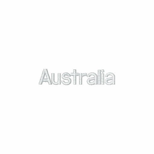 Australia Embroidered Hooded Sweatshirt
