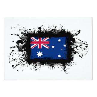 Australia Flag 13 Cm X 18 Cm Invitation Card