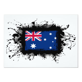 Australia Flag 13 Cm X 18 Cm Invitation Card