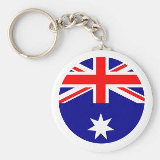 Australia Flag - Circle The MUSEUM Zazzle Keychains