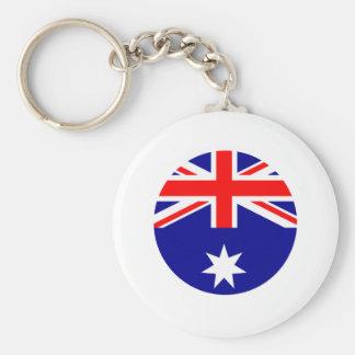 Australia Flag - Circle The MUSEUM Zazzle Key Chains