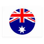 Australia Flag - Circle The MUSEUM Zazzle Postcard