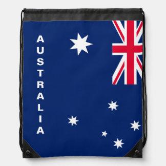Australia Flag Drawstring Backpack