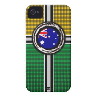 Australia Flag Emboss Green Gold iPhone 4 Case