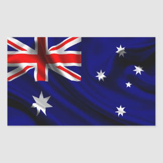 Australia Flag Fabric Rectangular Sticker