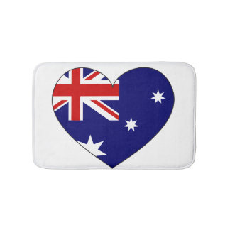 Australia Flag Heart Bath Mats