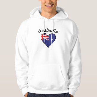 Australia Flag Heart Hoodie