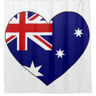 Australia Flag Heart Shower Curtain